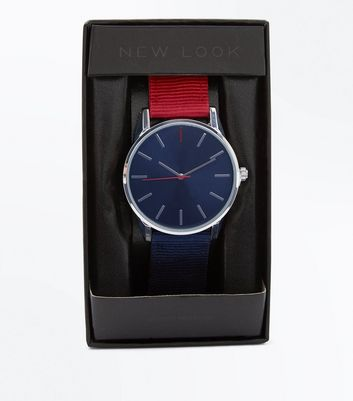 Navy Contrast Strap Watch