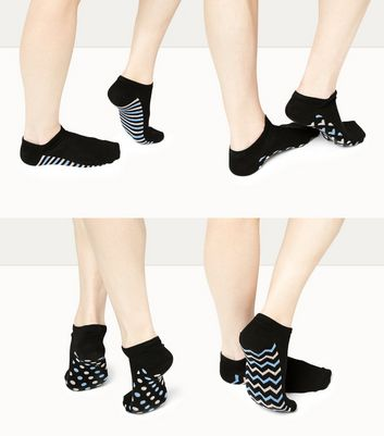 4 Pack Printed Sole Trainer Socks