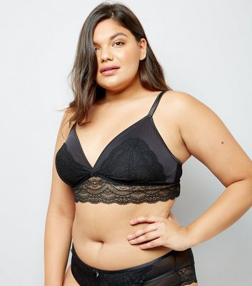 Curves Black Premium Lace Bralet