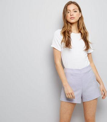 Lilac Cross Hatch Shorts