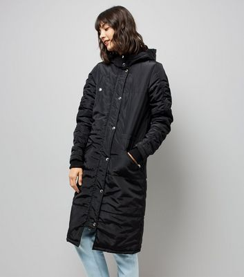 Noisy May Black Longline Parka