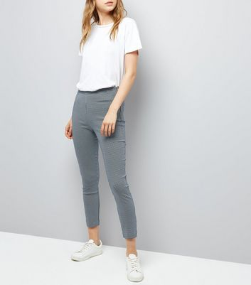 Blue Bengaline Slim Leg Trousers