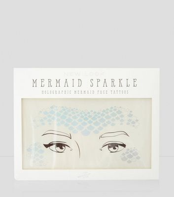 Holographic Mermaid Face Tattoos