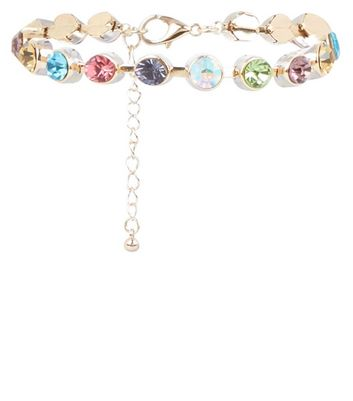 Gold Multi Coloured Stone Bracelet