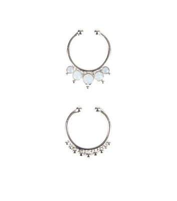 2 Pack Silver Septum Rings