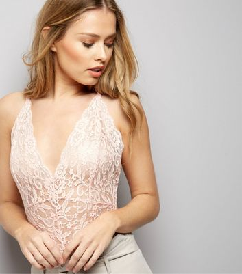 Cameo Rose Pink Lace Bodysuit