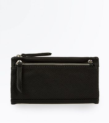 Black Perforated Slouchy Purse