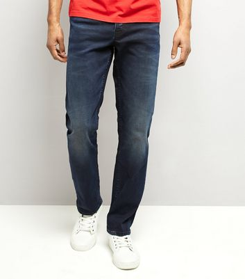 Navy Dark Wash Straight Leg Jeans