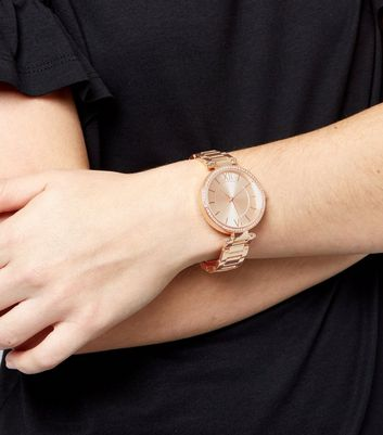 Rose Gold Crystal Trim Watch