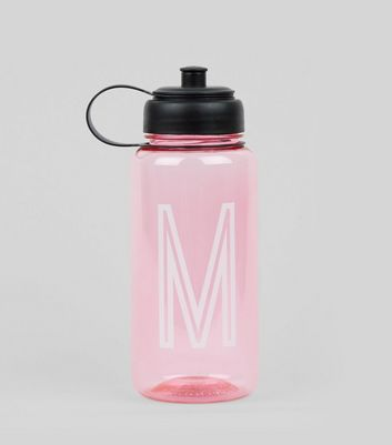 Pink Initial M Water Bottle
