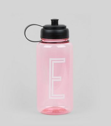 Pink Initial E Water Bottle