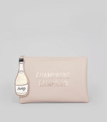 Pink Champage Campaign Zip Top Pouch
