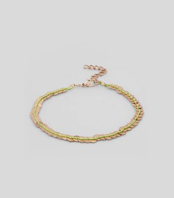 Gold Metal Sequin Thread Anklet