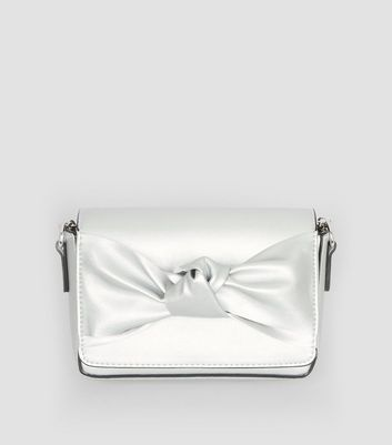 Silver Bow Front Clutch Bag