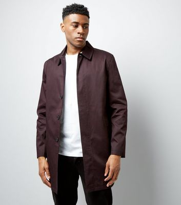 Burgundy Button Front Mac