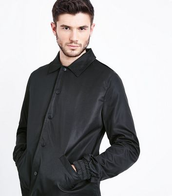 Black Button Front Jacket