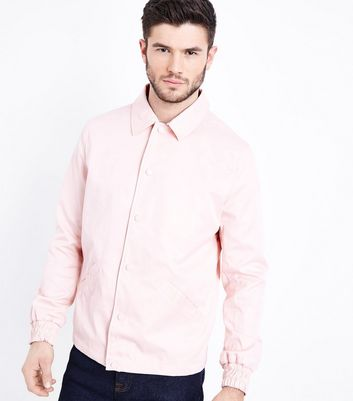 Pale Pink Button Front Jacket