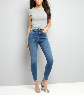 Tall – Blaue, figurformende Skinny Jeans
