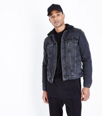 Black Borg Lined Denim Jacket | New Look
