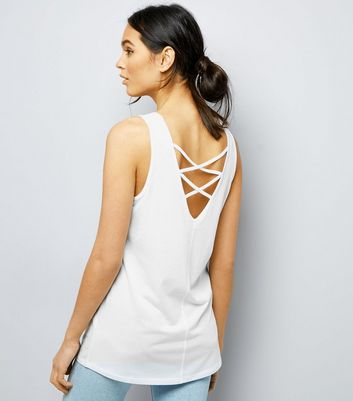 White Lattice Back Vest