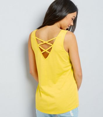 Yellow Lattice Back Vest