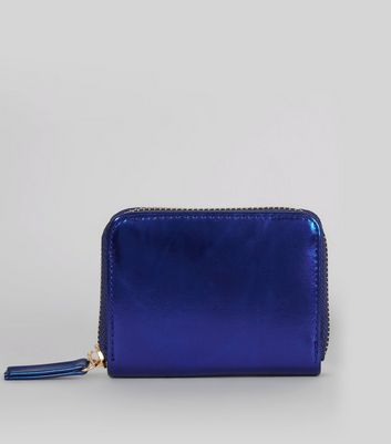 Blue Metallic Cardholder