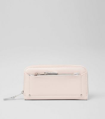 Cream Zip Around Purse
