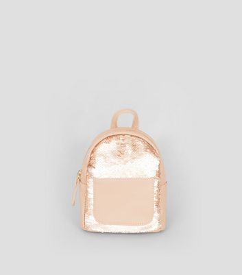 Rose Gold Sequin Mini Backpack