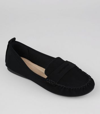 Wide Fit - Mocassins confort noirs