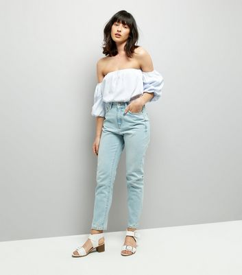 Pale Blue Tori Mom Jeans