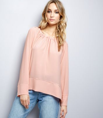Loving This Pink Gathered Bardot Top