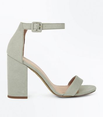 Mint Green Ankle Strap Block Heels