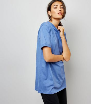 Tall Blue Oversized T-Shirt
