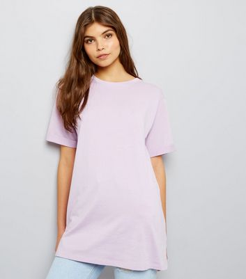 Tall Lilac Oversized T-Shirt