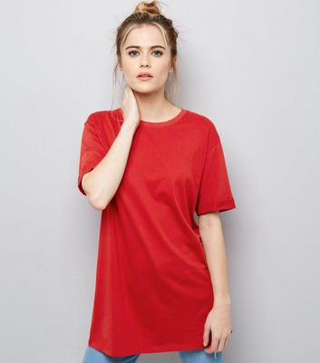 Tall Red Oversized T-Shirt