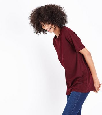 Tall Burgundy Oversized T-Shirt