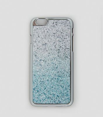 Silver Glitter Ombre iPhone 7 Case