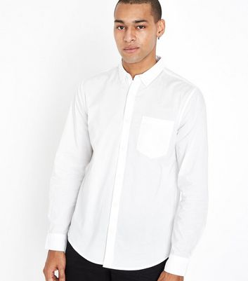 White Long Sleeve Cotton Shirt