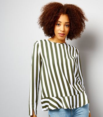 Anita and Green Green Stripe Tie Back Top