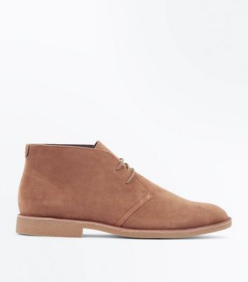 Stone Faux Suede Desert Boots
