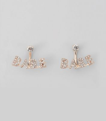 Rose Gold Sparkle Stud Earrings