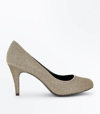 Glitzerpumps in Gold, Weite H
