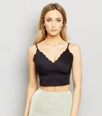 Black Scallop Trim Bralet