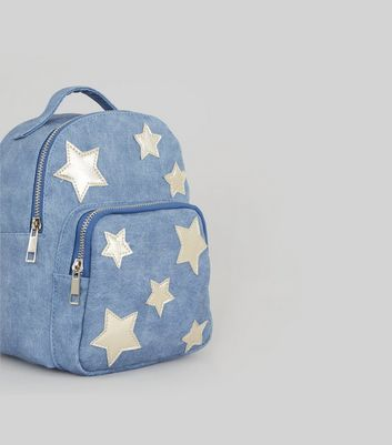 Blue Star Applique Mini Backpack