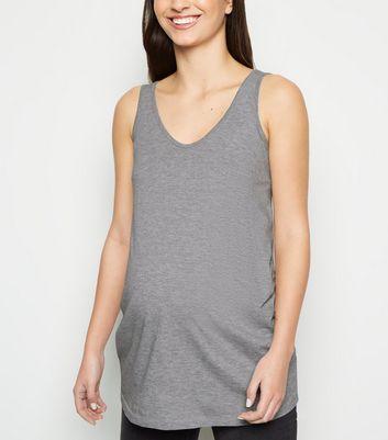 Maternity Grey V Neck Longline Vest