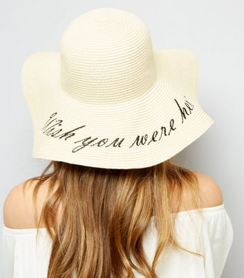 Chapeau souple écru Wish You Were Here