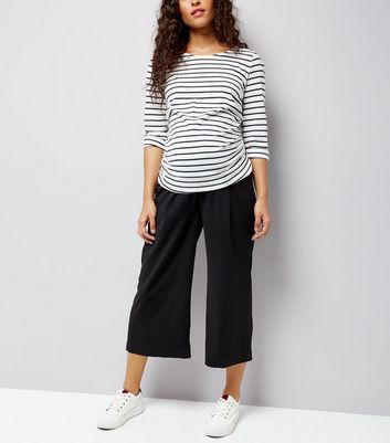 Maternity Black Cropped Trousers