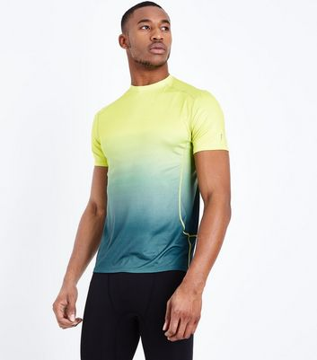 Yellow Ombre Sports T-Shirt