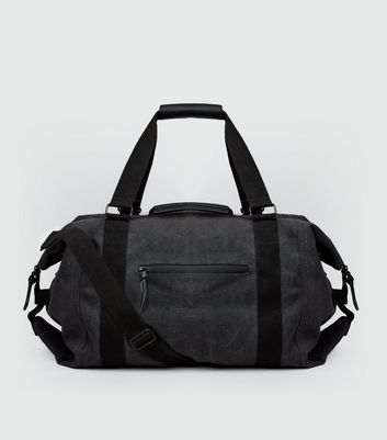 Grey Washed Canvas Holdall