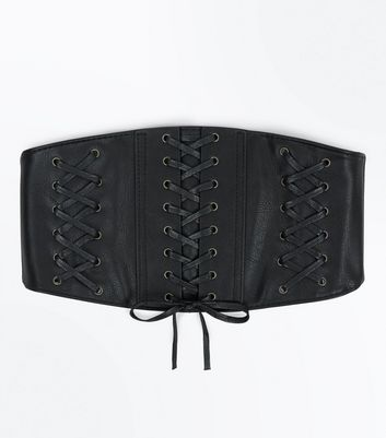 Black Wide Triple Corset Belt
